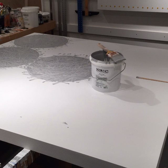 A productive day circling a blank canvas