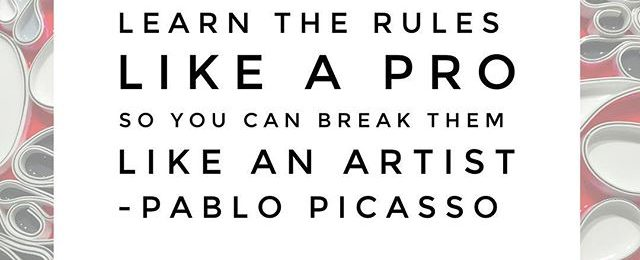 Arty quote of the day. Picasso one of the most influential artists of the 20th century. He produced an amazing and ground breaking array of