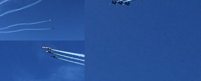 Blue Angels practice show above Fishermans wharf today #blueangels #fleetweek #fishermanswharf #sanfrancisco