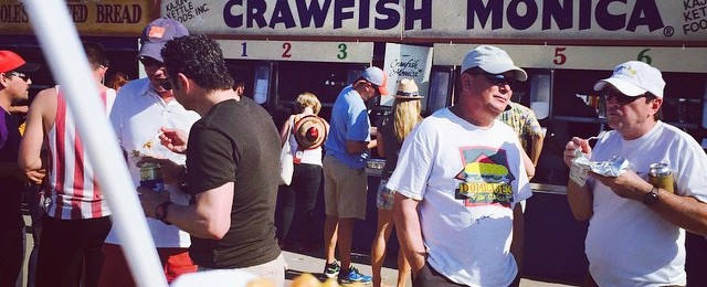 Crawfish Monica day complete. At least for next 5 minutes #jazzfest #nola #nodietshere
