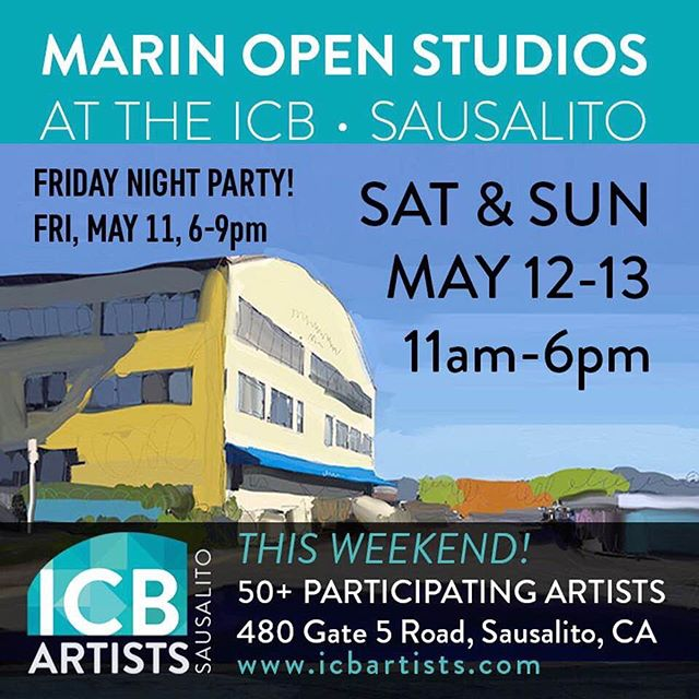 "Get your art on this weekend! Take your mom out the see some art this Mother's Day weekend. @marinopenstudios kicks off this weekend with 2 art filled days and a new evening event. Please join me and my fellow ICB artists @icbartists during Open Studios. . Location: I'm in studio 275 at the ICB 480 Gate 5 Road Sausalito Ca 94965 There are 50 participating @icbartists open for a true art market experience in one building . . I'll be showing new pieces from my ""Shard Series"" including a demo of a large painting in progress. . Days and times: Open Studios Saturday/Sunday, May 12+13, 11am - 6pm . . ICB Opening Reception: Friday May 11, 6 - 9pm Location: ICB, 480 Gate 5 Road, Sausalito Free Admission/Free Parking/Family Friendly/ADA Accessible. . . ."