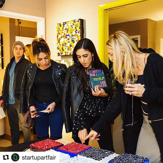 Had a great response to my work at in Los Angeles. Thanks for the post of art fans checking out my work. @startupartfair ・・・ Looking at Brian Huber's smaller works at stARTup LA 2018.  Become one of our exhibiting artists! Applications for SF 2018 are open now! Visit our link in bio