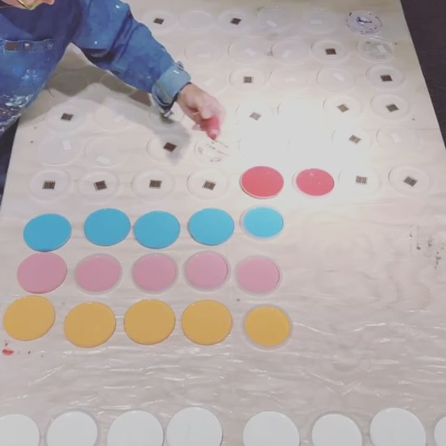In the studio: Timelapse as my last project hits the tables before @icb_winter_open_studios this upcoming weekend. 10 colors poured in dot dot dot and circle ️ land. Squeezing in some late night studio time before 3 shows in a row. Thanks for following my art adventures on Instagram. Stay tuned for more vids from the studio. Hope to see you at @icb_winter_open_studios this Friday through Sunday. . . . Three upcoming shows: . @icb_winter_open_studios December 1-3 in Sausalito. . . . @spectrummiami during @artbasel in Miami December 7-10th Both 811 with @adcfineart . . and @startupartfair in Venice beach at the Kinney - Los Angeles January 26-28. . . #time-lapse