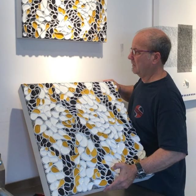 "It's hanging day in studio land. So far only wacked one finger. Please join me the next two weekends for @marinopenstudios . Location: Studio 275 at the ICB in Sausalito This Saturday and Sunday is the 1st of two art filled weekends at the ICB. There are 50 participating @icbartists open for a true art market experience. . . I'll be showing new pieces from my ""Shard Series"" . . Days and times: . Open Studios are Saturday/Sunday, May 5+6 and 12+13, 11am - 6pm . . Opening Reception: Friday May 11, 6 - 9pm Location: ICB, 480 Gate 5 Road, Sausalito Free Admission/Free Parking/Family Friendly/ADA Accessible. . . ."