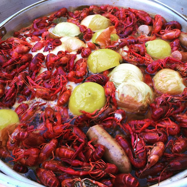 Last crawfish of the season. Father's Day boil.