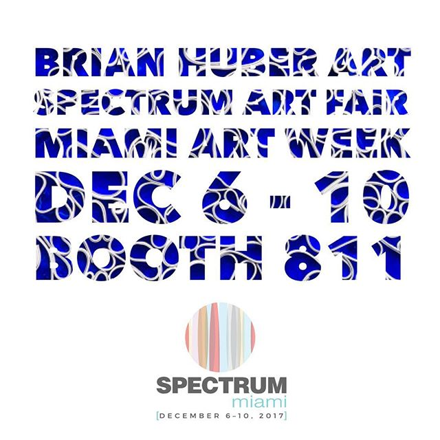 Opens tomorrow! Honored that my work is being shown at @spectrummiami art fair during this years Miami Art Week. December 6 through 10th. If you are attending and want tickets please send a pm. . . For you art lovers in Miami for @artbasel please visit booth 811 in the @spectrummiami art fair. I'm showing with @adcfineart and @blinkartdesigns . . .