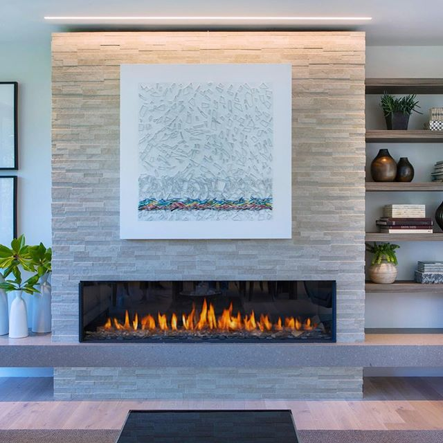 "Piece from the ""Shard Series"" installed in a beautiful light filled new home in Mill Valley Ca. Project design by @robertfederighidesign also here in Marin. Piece is 48""x 48"" (121x121cm) Special thanks to Robert for selecting this piece for this amazing residence. . . . ."