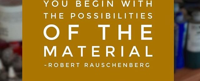 "Quote of the Day in honor of the Robert Rauschenberg retrospective opening tomorrow at the Tate Modern in London. ""Six sensational decades of work finally"