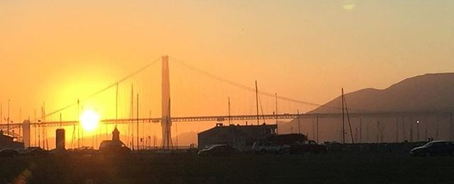 Sunset over the golden gate bridge and San Francisco Bay on this beautiful summer evening. It's been a great summer in the Bay Area. #sunset