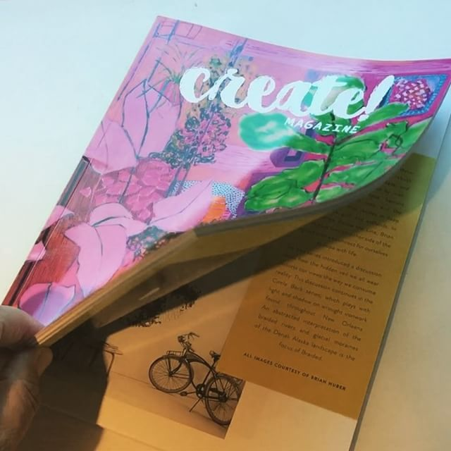 The beautiful Create Magazine @create_mag arrived today. Thrilled to have my work featured in the 4th edition of this art filled inspirational publication. Special thanks to the curator of this edition Sandra Aperloo @artisticmoods and the cover features work by fellow Bay Area painter Anna Valdez @missannavaldez Pick up a copy today and enjoy. . . . . .