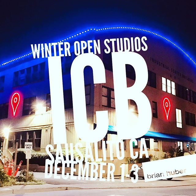 This weekend starting Friday @ 11am. Follow the lights to the Winter Open Studios at the ICB in Sausalito Ca. @icb_winter_open_studios December 1-3 daily from 11 to 6 pm and fun opening night event on Friday December 1st from 6 to 9 pm. Enjoy seeing work by 100 artists and explore three floors of artist studios. This is the premier art market in Marin. ICB 480 Gate 5 Road Sausalito Ca. 94965 My studio is 275. See y'all on the 1st!!