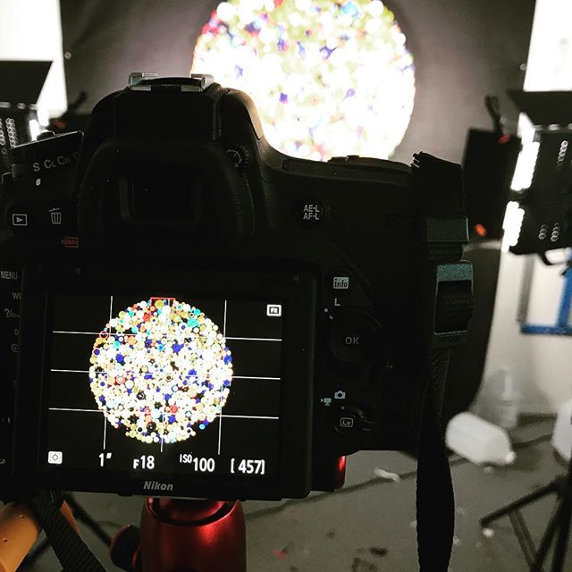 """Today in the studio: Photography of a couple of pieces then pack and ship to an upcoming show. This 35"""" round piece will be shown in Cincinnati at the @adcfineart show opening in mid October. Great to be working on a number of pieces for upcoming shows and clients. Stay tuned for more art vids of the finished pieces. ."""