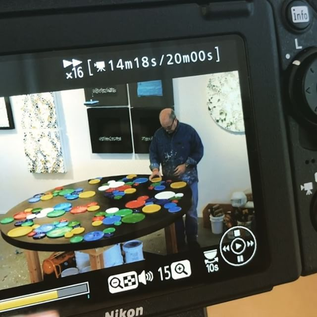 Today in the studio: Shooting 360 degree 4K virtual reality footage of a large Circumference piece being assembled. Thanks to Alejandro @souleyfan John Macleod @jmacdigital and Michael Valentini @_m_valenti_ for an fun morning of shooting. Also shot traditional video and timelapse too! Evidently too many cameras   are not an issue. More filming next week - stay tuned. . . . .