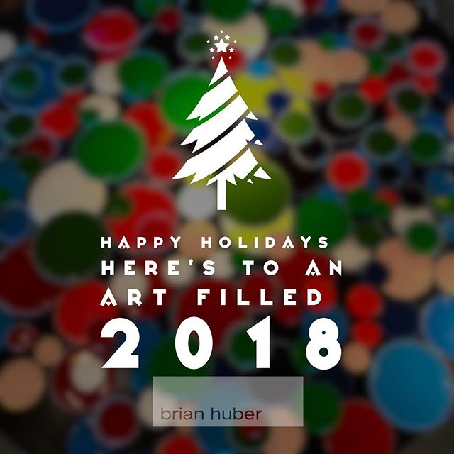 Warm wishes from my California studio to your corner of the world. Hope you enjoy the holidays and here's to an art adventure filled 2018! Thankful for all the amazing experiences and friends from around the world that I have met through the world of art. Thanks for your generosity in the past year and here's to many more experiences together in 2018. .