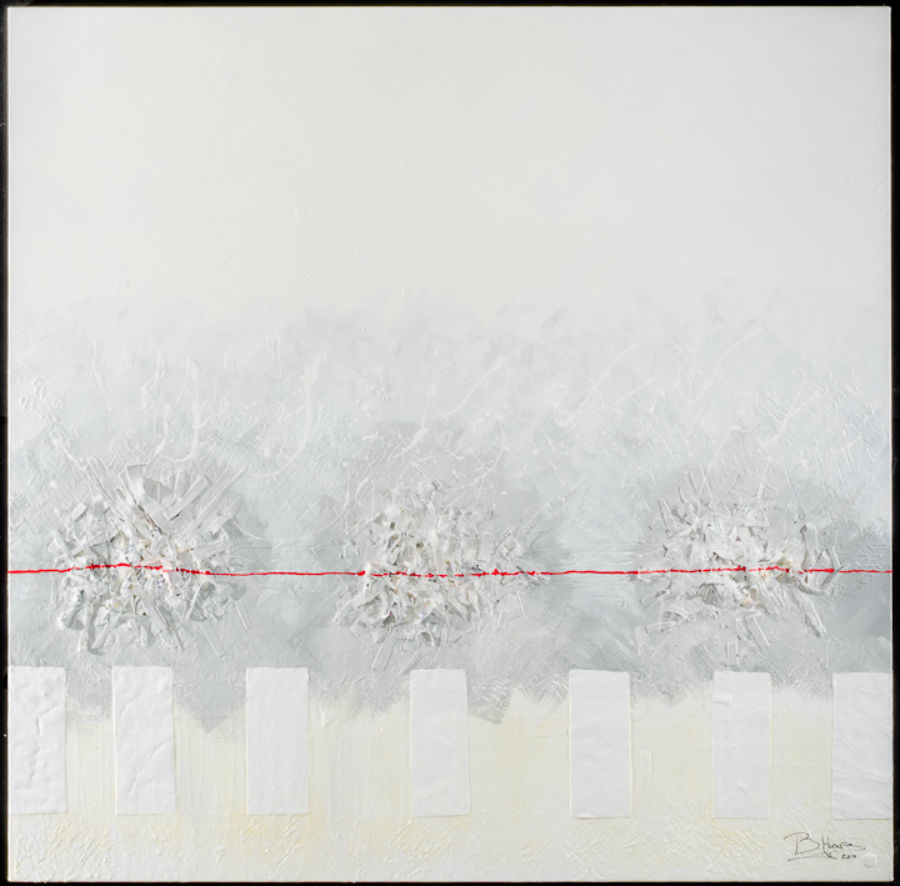 Follow the Line 60 x 60 Acrylic on Canvas 2011