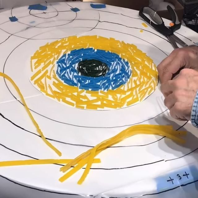 Friday in studio: Time lapse mode covering a few hours of studio work. Small sample round piece and concept I have been playing with. .  Stay tuned for more art vids. Thanks for watching and commenting on my work. . . . . . . . . .