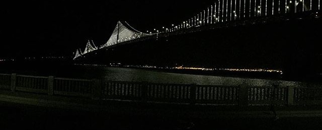 Bay lights up and running again and adding a glow to San Francisco Bay. Official opening in a few weeks. #baylights #sanfrancisco #sfbay #light #sfartist