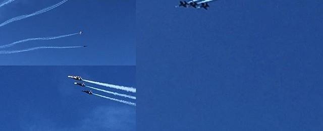 Blue Angels practice show above Fishermans wharf today #blueangels #fleetweek #fishermanswharf #sanfrancisco