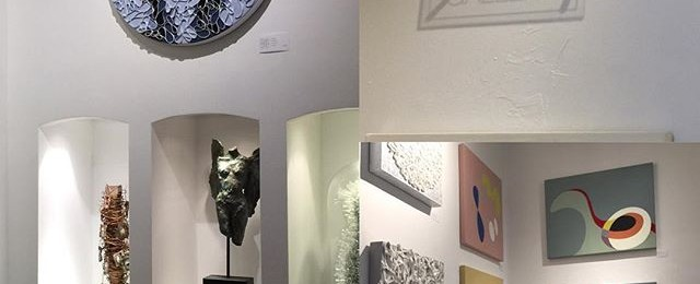 My paintings are installed at new @toadfishgallery in Sausalito. Great to see this new gallery supporting contemporary local artists. Opening event is tomorrow from 5