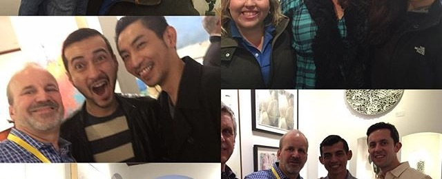 Opening night fun at @toadfishgallery amazing turn out and support for this new gallery in Sausalito. Very pleased to have my work shown here. Check