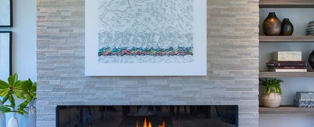 """Piece from the """"Shard Series"""" installed in a beautiful light filled new home in Mill Valley Ca."""