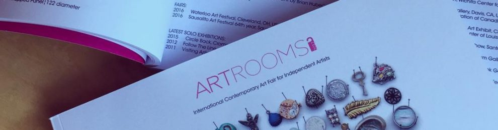 Artrooms art fair in London produced a beautiful show catalog. Received a couple of copies today and