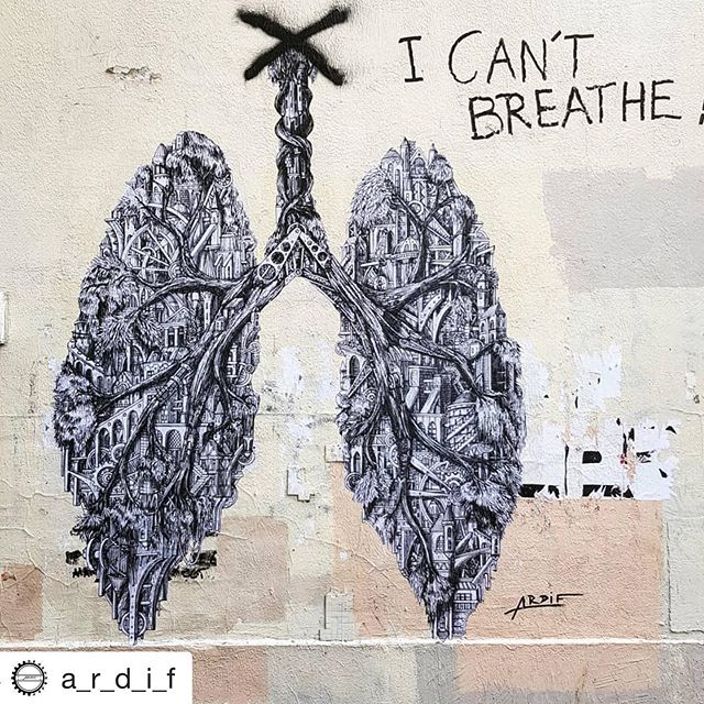 "@a_r_d_i_f repost ・・・ ""I can't breathe !"" Says the Australians during the bushfires and the Californians during the fires. The planet is choking and burning. . ""I can't breathe !"" Says the covid patient in their hospital room . ""I can't breathe !"" Says George Floyd to the cop who murdered him and to the people of the world. . . . . 2020 is an unbreathable year. We need respect, we need equality, we need peace, we need air..... . ."
