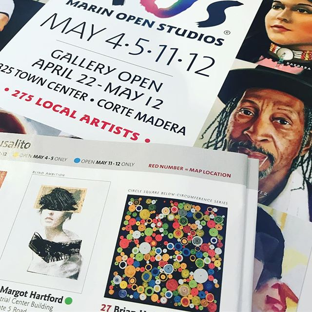 In the studio: Show prep is definitely going full blast !- next up is @marinopenstudios May 4-5 and 11-12 Join me and my fellow @icbartists for  a preview event on Friday May 3rd starting at 6pm . . Thanks for the follows and comments on Instagram. . .