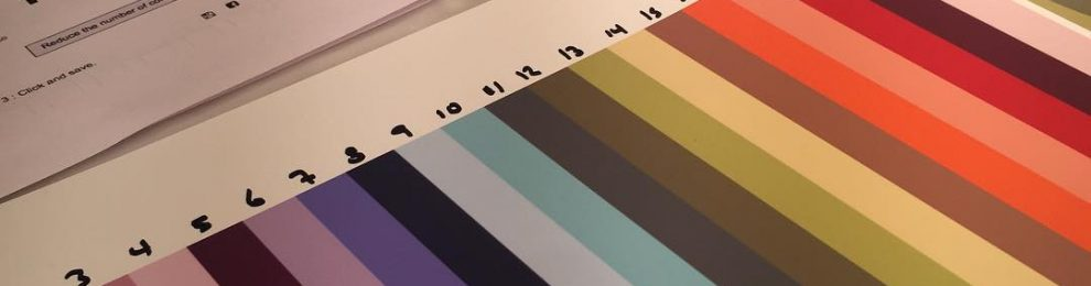 In the studio: working on new color palette. This one is could be as many as 20 colors for one piece