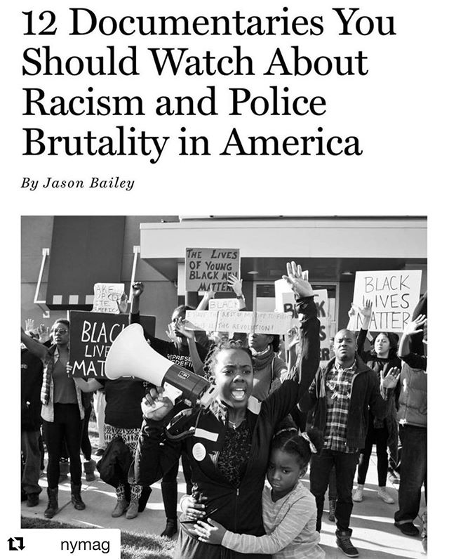 and @nymag and @vulture ・・・ If you are in search of films to watch on the subjects of protests, racial injustice, and police brutality, tap the link in bio to find the 12 documentaries that are worth watching today and always. RG @vulture . .  Let the Fire Burn (2013) . Let It Fall: Los Angeles 1982–1992 (2017) / LA 92 (2017) . Whose Streets? (2017) . Copwatch (2017) . 16 Shots (2019) . Do Not Resist (2016) . The Force (2017) / Crime + Punishment (2018) . The Death and Life of Marsha P. Johnson (2017) .  13th (2016) . I Am Not Your Negro (2016) . . .