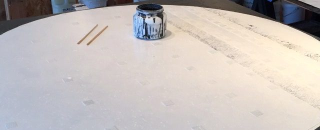 Time lapse painting in circles going round and round and round. The start of a new piece on top of a